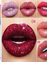 abordables -1 pcs 6 couleurs Maquillage Quotidien Facile à transporter / Homme / durable Lueur Longue Durée / Décontracté / Quotidien Brillant & Séduisant / Mode Maquillage Cosmétique Ecole / Rendez-vous