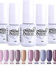 cheap -Nail Polish 12 Pcs color 37-48 xyp  Mottled Soak-Off UV/LED Gel Nail Polish Solid Color Nail Lacquer Sets