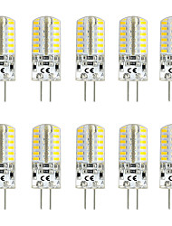 cheap -10pcs 3 W LED Bi-pin Lights 300 lm G4 T 48 LED Beads SMD 3014 Warm White White Red 12 V