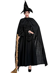 cheap -Witch Costume Women's Fairytale Theme Halloween Performance Theme Party Costumes Women's Dance Costumes Polyester Lace-up