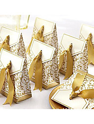 cheap -Triangle Cardboard Favor Holder with Ribbons Favor Boxes / Favor Bags / Gift Boxes - 100pcs