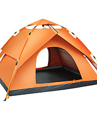 cheap -Sheng yuan 4 person Backpacking Tent Outdoor Waterproof Mountaineering Sun Protection Double Layered Automatic Dome Camping Tent 2000-3000 mm for Camping / Hiking Camping / Hiking / Caving Oxford