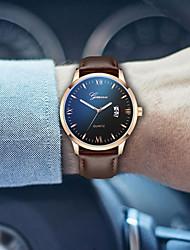 Недорогие -Муж. Спортивные часы Кварцевый Кожа Черный 30 m Секундомер Творчество Светящийся Аналоговый Блестящие На каждый день - Черный / Золотистый Черный / Серебристый Черный / Розовое золото / Два года