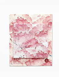 cheap -Natural Fiber Blushing Pink 1pc Stickers & Tapes 6.2*6.2 cm