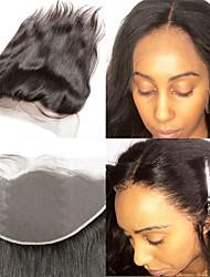 cheap -Laflare Brazilian Hair 4x13 Closure Straight Free Part Swiss Lace Human Hair Women's Women / Extention / Best Quality Christmas / Halloween / Dailywear