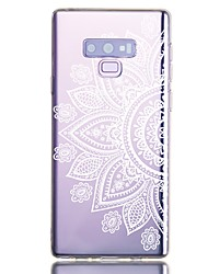 cheap -Case For Samsung Galaxy Note 9 Shockproof / Transparent / Pattern Back Cover Flower Soft TPU