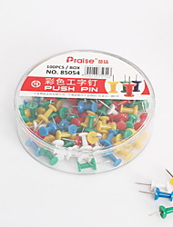 cheap -Decorative Multi-Colored Push Pins for Home & Office Organizing Container 1.2*0.5 cm
