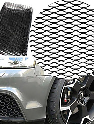 cheap -Car Silver/Black Aluminum Alloy Front Bumper Seagulls Shape Air Inlet Grill Mesh Sheet (8x25mm)
