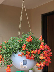 cheap -Automatic Water Absorbing Plastic Flowerpot with Hanging Chain Home Office Decoration