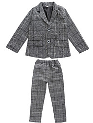 cheap -Kids Boys' Basic Solid Colored Long Sleeve Cotton Suit & Blazer Gray