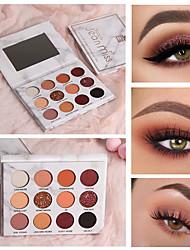 abordables -12 couleurs sexy ombre à paupières en marbre nacré mat imperméable durable maquillage plateau de fard à paupières