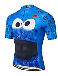 abordables -21Grams Homme Manches Courtes Maillot Velo Cyclisme Vert Rouge Bleu Nouveauté Cyclisme Maillot Hauts / Top VTT Vélo tout terrain Vélo Route Respirable Evacuation de l'humidité Séchage rapide Des