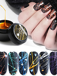 cheap -8ml Nail Phototherapy Glue Stretch Drawing Plastic Silk Painted Plastic Painting Flower Pull Line Nail Oil Gel
