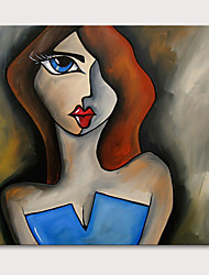 cheap -Oil Painting Hand Painted People Abstract Portrait Modern Rolled Canvas Rolled Without Frame