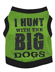cheap -Dog Vest Puppy Clothes Quotes & Sayings Casual / Daily Simple Style Dog Clothes Puppy Clothes Dog Outfits Yellow Orange Green Costume for Girl and Boy Dog Cotton XS S M L