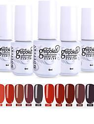 cheap -Nail Polish 12 Pcs color 181-192 xyp  Mottled Soak-Off UV/LED Gel Nail Polish Solid Color Nail Lacquer Sets