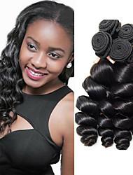 cheap -4 Bundles Malaysian Hair Loose Wave Virgin Human Hair Unprocessed Human Hair Headpiece Natural Color Hair Weaves / Hair Bulk Extension 8-28 inch Natural Color Human Hair Weaves Odor Free Women For