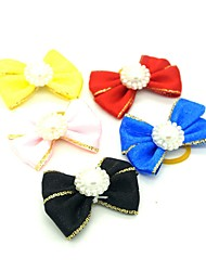 cheap -Dogs Ornaments Hair Accessories For Dog / Cat Bowknot Decoration Solid Colored Metalic Polyester Rubber Rainbow