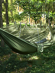 cheap -Camping Hammock with Mosquito Net Outdoor Portable Lightweight Anti-Mosquito Parachute Nylon with Carabiners and Tree Straps for 2 person Beach Camping Camping / Hiking / Caving Camouflage Pink+Blue