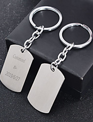 cheap -Personalized Customized Keychain Classic Engraved Gift Promise Festival Circle 1pcs Silver / Laser Engraving