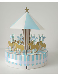 cheap -High Quality Carrousel Candy Box For Baby Shower ,  Christening & Baptism , Merry-go-round Pink And Blue