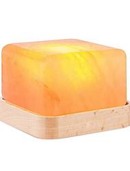 cheap -Cube LED Himalayan air purifying Salt Lamp Night Light Wood Base Creative USB 1pc