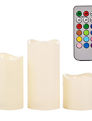 cheap -Mooncandles Weatherproof Outdoor & Indoor Color Changing Candles with Remote Control & Timer, 3 Count