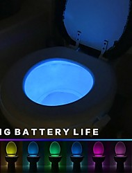 cheap -Toilet Night Light 8 Color LED Motion Sensor Activated Bathroom Illumibowl Seat