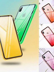 cheap -Gradient Tempered Glass Phone Case For iphone XR / XS MAX / XS Shockproof Cover Hard Shell For iphone X 8 Plus 8 7 Plus 7 6 Plus 6