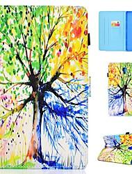 Недорогие -Кейс для Назначение SSamsung Galaxy Tab 4 10.1 / Tab S4 10.5 (2018) / Tab A2 10.5(2018) T595 T590 Бумажник для карт / Защита от удара / со стендом Чехол дерево Твердый Кожа PU