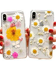 Недорогие -чехол для яблока iphone xs max / iphone 8 plus противоударный / пылезащитный задняя крышка цветок мягкий силикагель для iphone 7/7 plus / 8/6/6 plus / xr / x / xs