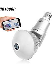 cheap -1080P 200W Bulb IP Camera 360 Degree Panoramic WiFi Wireless Camera Night Vision  Motion Detection Pet Baby Camera