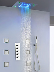cheap -Shower Faucet - Contemporary Chrome / Painted Finishes Wall Mounted Ceramic Valve Bath Shower Mixer Taps