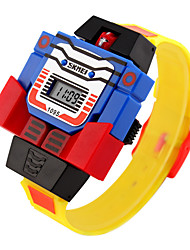 cheap -skmei led digital children watch cartoon sports watches relogio robot transformation toys boys wristwatch