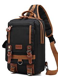 Недорогие -Муж. Молнии холст Слинг сумки на ремне Черный / Серый