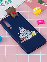 cheap -For HUAWEI P30 3D Cute Coloured Painted Animal TPU Anti-scratch Non-slip Protective Cover Back Case