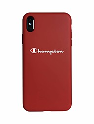cheap -Case For Apple iPhone XS / iPhone XR / iPhone XS Max Glow in the Dark / Ultra-thin Back Cover Word / Phrase Soft Silica Gel