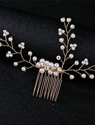 cheap -Party / Evening / Wedding Party Party Accessories Headdress / Headpiece / Hair Accessory Faux Pearl / Flower Comb / Crystals Rhinestone / Alloy Fashion / Wedding / Flower