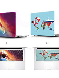 abordables -étui de protection compatible avec macbook 12 pouces carte planète étui de protection clavier film us version anglaise pvc