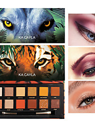 cheap -12 Colors Eyeshadow Tiger Pig Ice Wolf Animal Twelve Color Matte Pearlescent Eye Shadow Lasting Makeup