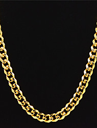 cheap -Men's Women's Gold Chain Necklace Statement Necklace Chains Layered Totem Series Face Statement Punk Trendy Rock Zircon Chrome 24K Gold Plated Gold 70 cm Necklace Jewelry 1pc For Carnival Street Club