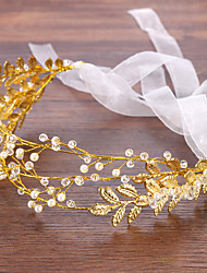 cheap -Women's Headbands Hair Jewelry For Wedding Wedding Alloy Golden 1pc