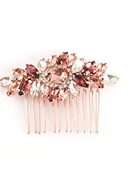 cheap -Alloy Hair Combs / Headdress / Jewelry with Crystals / Rhinestones 1 Piece Wedding / Daily Wear Headpiece