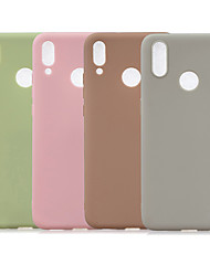 cheap -Case For Huawei Huawei Y7 2019 / Huawei Y6 (2019) Frosted Back Cover Solid Colored TPU