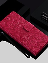 cheap -Case For Nokia Nokia 9 PureView / Nokia 7.1 / Nokia 4.2 Wallet / Card Holder / with Stand Full Body Cases Flower Hard PU Leather