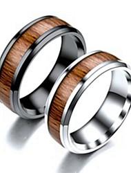 Недорогие -Муж. Кольцо Хвост 1шт Черный Серебряный Титановая сталь Круглый Классический Мода Подарок Повседневные Бижутерия Cool