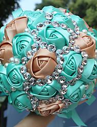 Недорогие -Свадебные цветы Букеты Свадьба / Свадебные прием Шёлковая ткань рипсового переплетения / стекло 11-20 cm