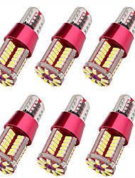 Недорогие -6шт T10 Автомобиль Лампы 10 W SMD 3014 57 Светодиодная лампа Подсветка для номерного знака / Боковые габаритные огни Назначение Универсальный Все года