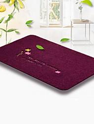 cheap -1pc Modern Bath Mats PVC(PolyVinyl Chloride) Floral Print Non-Slip