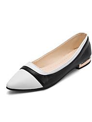 cheap -Women's Flats Flat Heel Synthetics Spring &  Fall Black / White / Gold